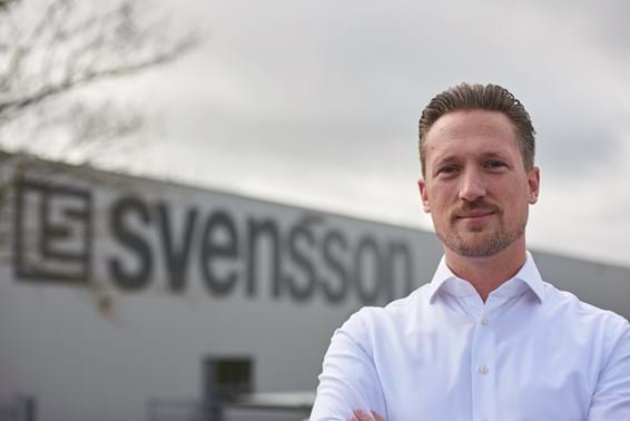 Wouter de Jong in front of Svensson office in the Netherlands